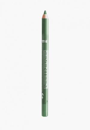 Карандаш для глаз Seventeen водостойкий т.23 с витамин.Е Super Smooth W/P&Longstay изумрудный. Цвет: зеленый