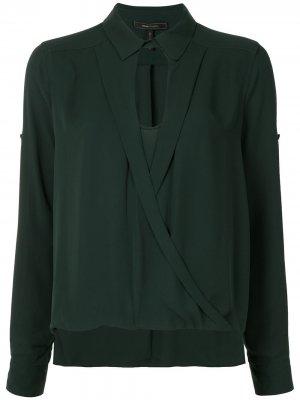 Блузка с запахом BCBG Max Azria. Цвет: зеленый