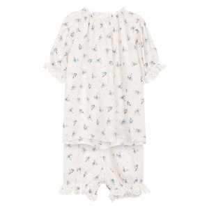 Хлопковая пижама Amiki Children. Цвет: разноцветный