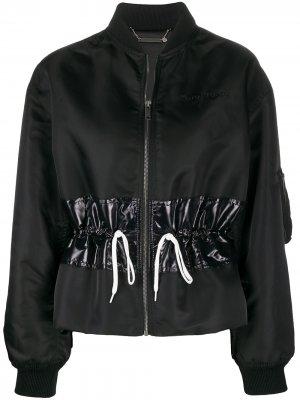 Куртка-бомбер с кулиской Givenchy. Цвет: черный