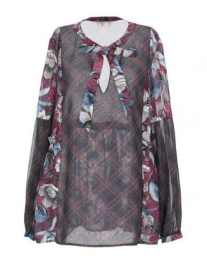 Блузка EMMA & GAIA. Цвет: красно-коричневый