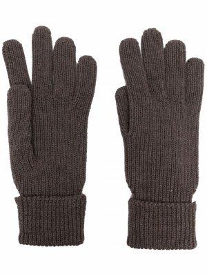 Перчатки с нашивкой-логотипом Woolrich. Цвет: коричневый