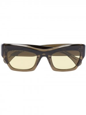 Солнцезащитные очки Ayreen в прямоугольной оправе Port Tanger. Цвет: коричневый