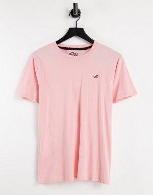Футболка с логотипом розового цвета -Розовый цвет Hollister