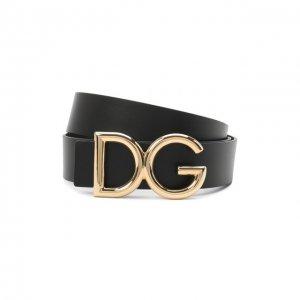 Кожаный ремень Dolce & Gabbana. Цвет: чёрный