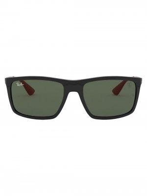 Солнцезащитные очки из коллаборации со Scuderia Ray-Ban. Цвет: черный