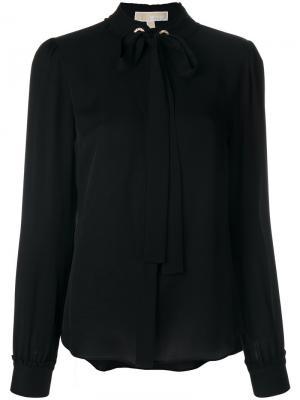Блузка с бантом Michael Kors. Цвет: черный