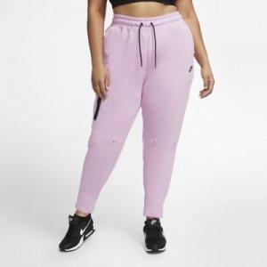 Женские брюки Sportswear Tech Fleece (большие размеры) - Розовый Nike