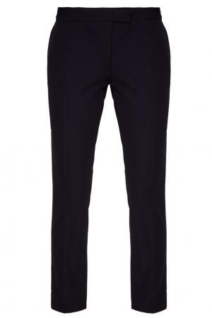 Синие хлопковые брюки-чинос Joseph. Цвет: синий