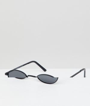 Круглые солнцезащитные очки в черной металлической оправе -Черный AJ Morgan