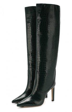 Кожаные сапоги Mavis 100 Jimmy Choo. Цвет: темно-зеленый