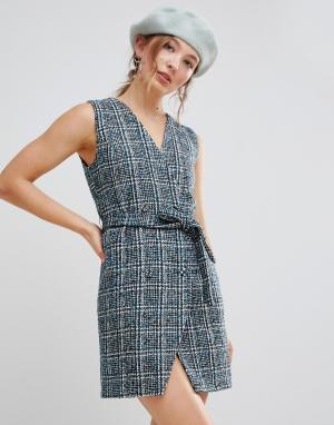 Фактурное твидовое платье-блейзер без рукавов Unique 21 UNIQUE21. Цвет: мульти
