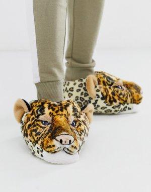 Слиперы с леопардовым принтом s-Оранжевый Loungeable