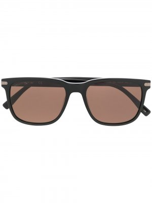 Солнцезащитные очки L898S в квадратной оправе Lacoste. Цвет: черный