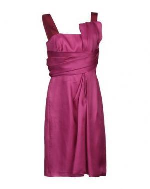 Платье до колена AQUILANO-RIMONDI. Цвет: пурпурный