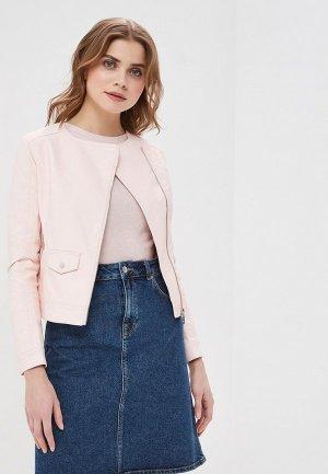 Куртка кожаная Z-Design. Цвет: розовый