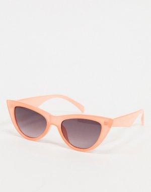 Солнцезащитные очки в оправе кошачий глаз персикового цвета -Розовый цвет AJ Morgan
