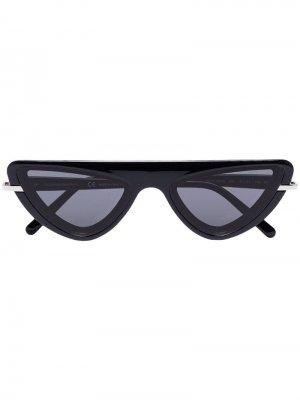 Солнцезащитные очки в оправе кошачий глаз Calvin Klein 205W39nyc. Цвет: черный