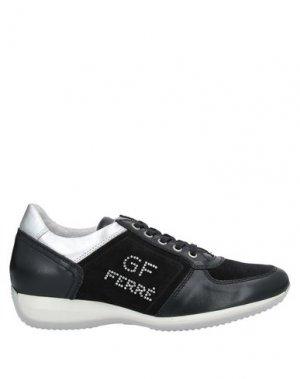 Низкие кеды и кроссовки GF FERRE'. Цвет: черный