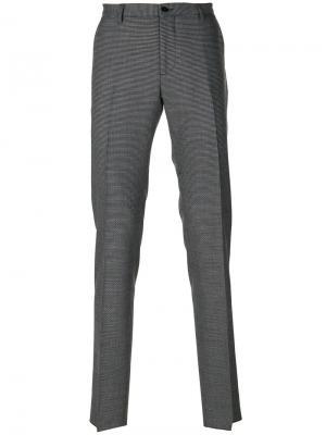 Классические брюки с мелким узором Etro. Цвет: многоцветный