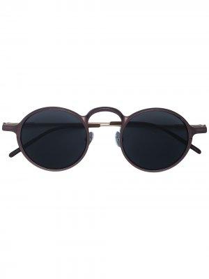 Солнцезащитные очки в круглой оправе Rigards. Цвет: нейтральные цвета