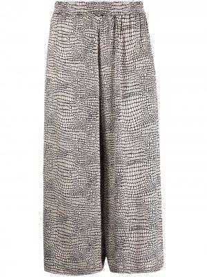 Укороченные брюки с геометричным принтом 8pm. Цвет: нейтральные цвета