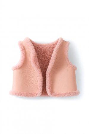 Розовый кожаный жилет Jalou Bonpoint. Цвет: розовый