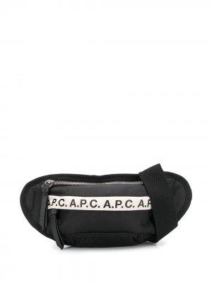 Поясная сумка Mini Repeat Hip A.P.C.. Цвет: черный