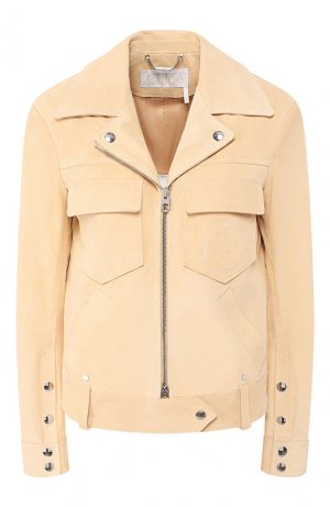 Кожаная куртка Chloé. Цвет: желтый