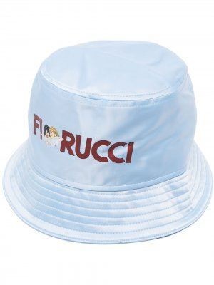 Панама с логотипом Fiorucci. Цвет: синий