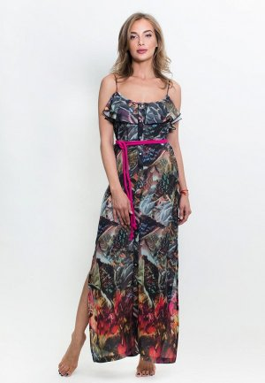Платье пляжное Penye Mood. Цвет: разноцветный