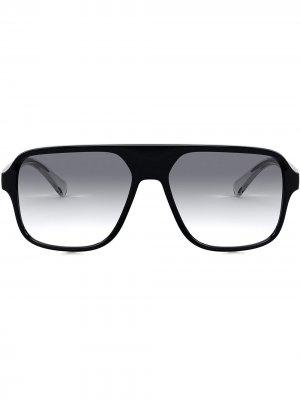 Солнцезащитные очки-маска Dolce & Gabbana Eyewear. Цвет: черный