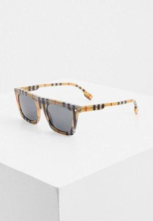 Очки солнцезащитные Burberry BE4318 377887. Цвет: бежевый