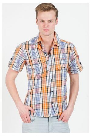 Рубашка Frank Q. Цвет: оранжево-фиолетовый