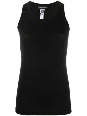 Топ без рукавов Dolce & Gabbana. Цвет: черный