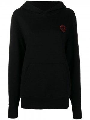 Трикотажное худи с логотипом A.F.Vandevorst. Цвет: черный