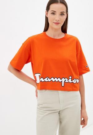 Футболка Champion ROCHESTER Logo Crewneck T-Shirt. Цвет: оранжевый