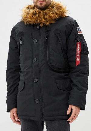 Куртка утепленная Alpha Industries Polar Jacket. Цвет: черный