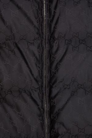 Фактурный жилет Gucci. Цвет: черный