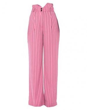 Повседневные брюки DENNY ROSE. Цвет: розовый