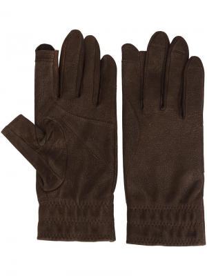 Укороченные перчатки Rick Owens. Цвет: коричневый