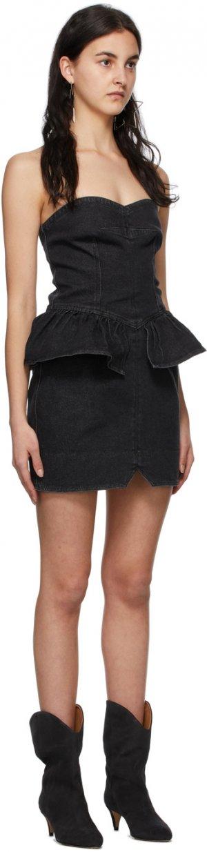 Black Denim Dolizi Dress Isabel Marant. Цвет: 02fk faded black