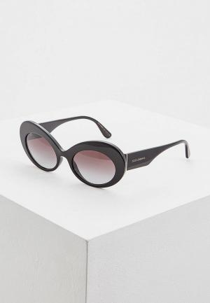 Очки солнцезащитные Dolce&Gabbana DG. Цвет: черный