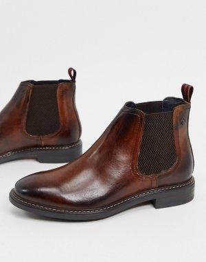 Коричневые кожаные ботинки челси -Коричневый Base London