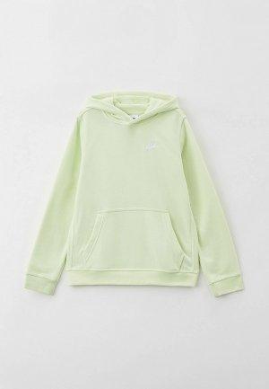 Худи Nike B NSW CLUB PO HOODIE. Цвет: зеленый