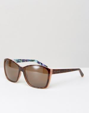 Солнцезащитные очки Larke Ted Baker. Цвет: коричневый