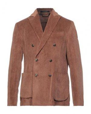 Пиджак MESSAGERIE. Цвет: коричневый