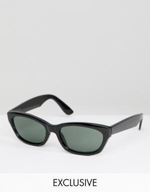 Черные квадратные солнцезащитные очки Inspired эксклюзивно для ASOS Reclaimed Vintage. Цвет: черный
