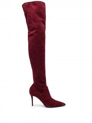 Ботфорты на каблуке Le Silla. Цвет: красный