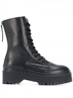 Высокие ботинки P.A.R.O.S.H.. Цвет: черный